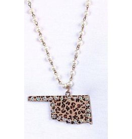 KNC ENVY Leopard Oklahoma Necklace