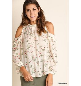 UMGEE HARPER FLoral Open Shoulder Top