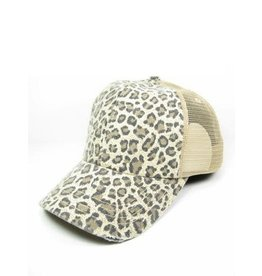 Buck Wholesale Leopard Trucker Hat