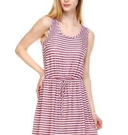 SARA Striped Knit Dress