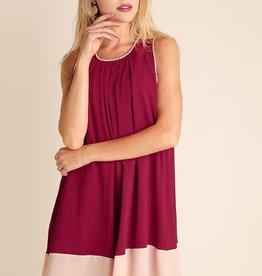 UMGEE SPARROW Trimmed Sleeveless Dress