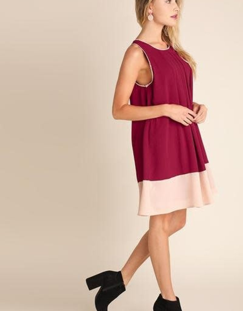 UMGEE SPARROW Trimmed Sleeveless Dress