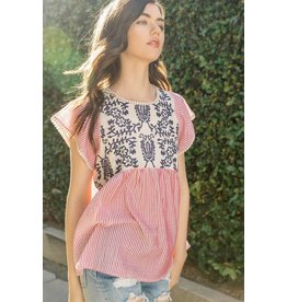 THML CHERISH Short Sleeve Top