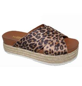 BestOn AIDEN Leopard Platform Sandal