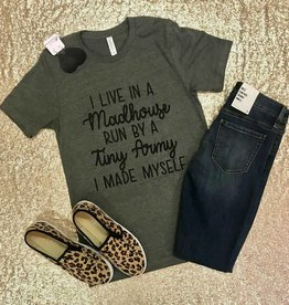 The Ritzy Gypsy MY MADHOUSE Charcoal Tee