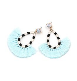 Jujia JULIA Striped Earring- Turquoise