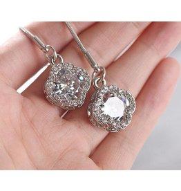 jztop TIFF Bolo Crystal Necklace
