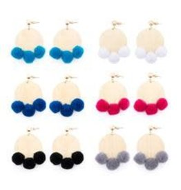 Mainstreet Collection PIPER Pom Pom Disc Earring More Colors