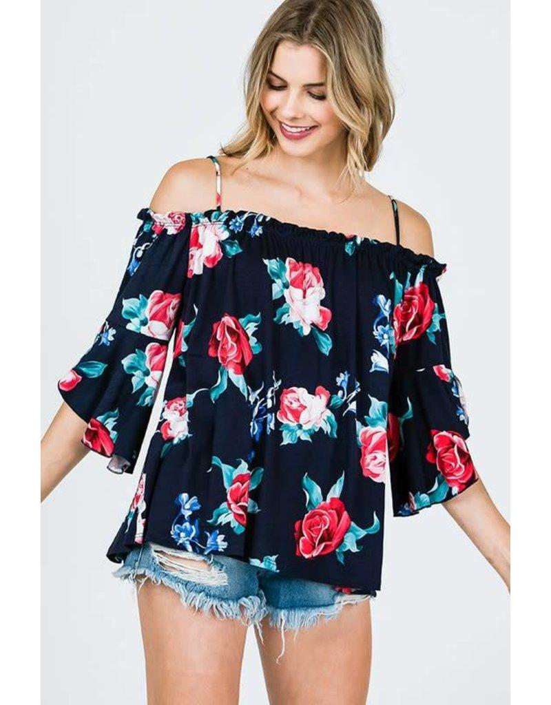 CY Fashion ISABELLA Cold Shoulder Top