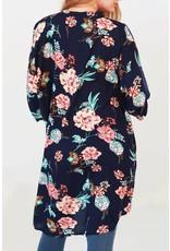 Urbanista FIONA Navy Floral Kimono