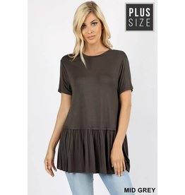 Zeana ABRIE Plus Size Short Sleeve Tee