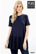 Zeana ABRIE Plus Size Short Sleeve Tee