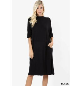 Zeana DANI Simple Black Dress
