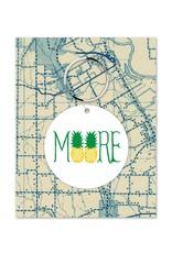 Rock Scissor Paper MOORE Pineapple Key Chain