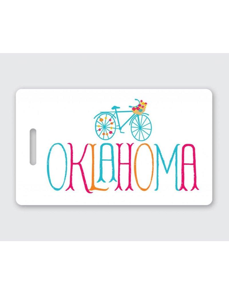 Rock Scissor Paper COME ALONG Oklahoma Luggage Tag
