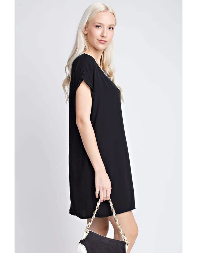 12 PM by Mon Ami BLISS Black Dress with Pocket