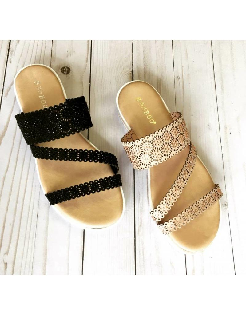J P Original Corp Kasey Sandals with Crystals