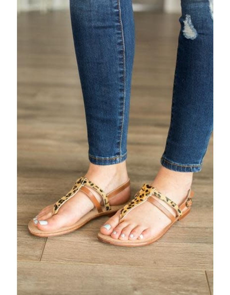 Naughty Monkey GEMMA Leopard Sandal