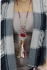 Your Fashion Wholesale OKIE LOVE Crystal Tassel Necklace