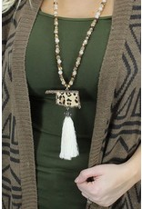 Your Fashion Wholesale OKIE LEOPARD LOVER Tassel Necklace