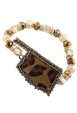 Your Fashion Wholesale LEOPARD OK Stretch Bracelet