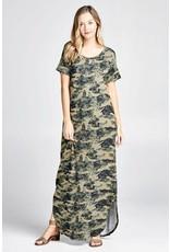Oddi DARBY Camo Knit Maxi Dress