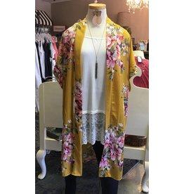 Oddi RAVEN Plus Size Pocketed Kimono