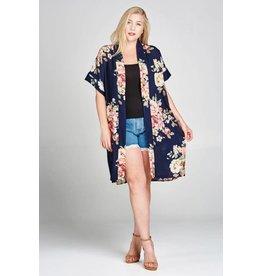 Oddi ELISA Navy Floral Kimono