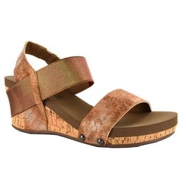 Corky's Footwear BANDIT Wedged Sandal Rose Gold