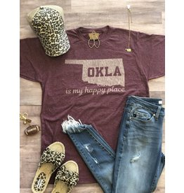 J&S Fashion OK My Happy Place Tee