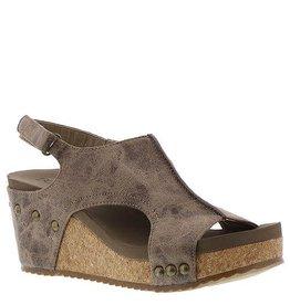Corky's Footwear LONDON Brown Distressed Wedge Sandals