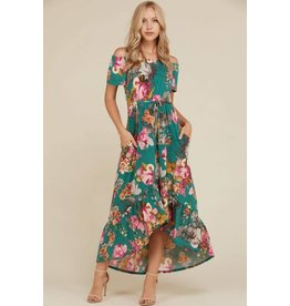 Annabelle KIRSTI High-Low Floral Tie Dress with Pockets