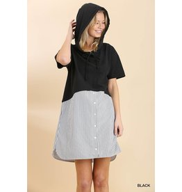 UMGEE MANHATTAN Hooded Pocket Dress