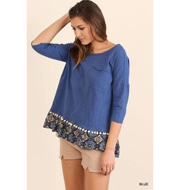 UMGEE SHIPLEY 3/4 Sleeve Top