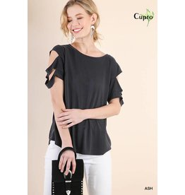 UMGEE KADEN Cutout Sleeve Top