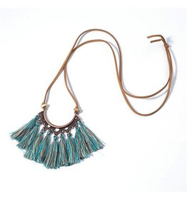 HelloLeo HALF MOON Tassel Necklace