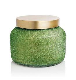 Capri Blue ALPINE JUNIPER Capri Candle Green Glitter Jar 19oz
