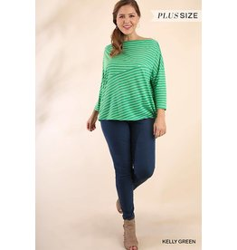 UMGEE BROOKE Curvy Girl Straight Neck Top Curvy