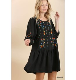 UMGEE BLAKE Puff Sleeve Dress with Ruffled Hem
