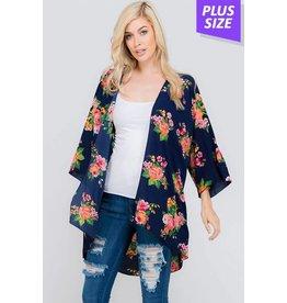 b-tween MADDIE Plus Size Floral Kimono