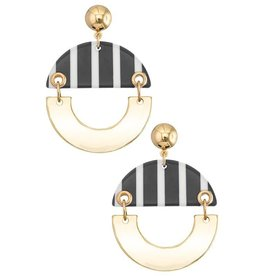 Girly CHLOE Striped Acrylic Earring