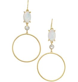 Girly PHOEBE Hoops with Crystals