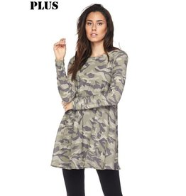 2NE1 Apparrel CAPTAIN Plus Size Camo Tunic