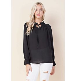 Blushing Heart LUNA Long Sleeve with Tie Neck Blouse
