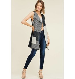Staccato SERENITY Grey Heavy Sweater Duster Vest