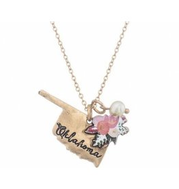 Girly STATE PRIDE Floral Jewelry Set