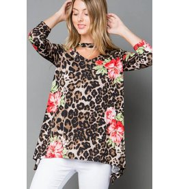 b-tween OLIVIA Plus Size Leopard and Animal Tunic