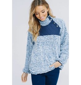 b-tween RILEY Long Sleeve High Button Neck Pullover