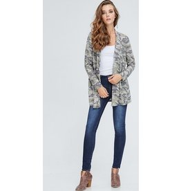 b-tween AUBREE Long Sleeve Camouflage Cardigan