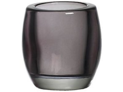 Bolsius Bolsius TeaLight Oval Holder Smokey 3 x 2.8 inch